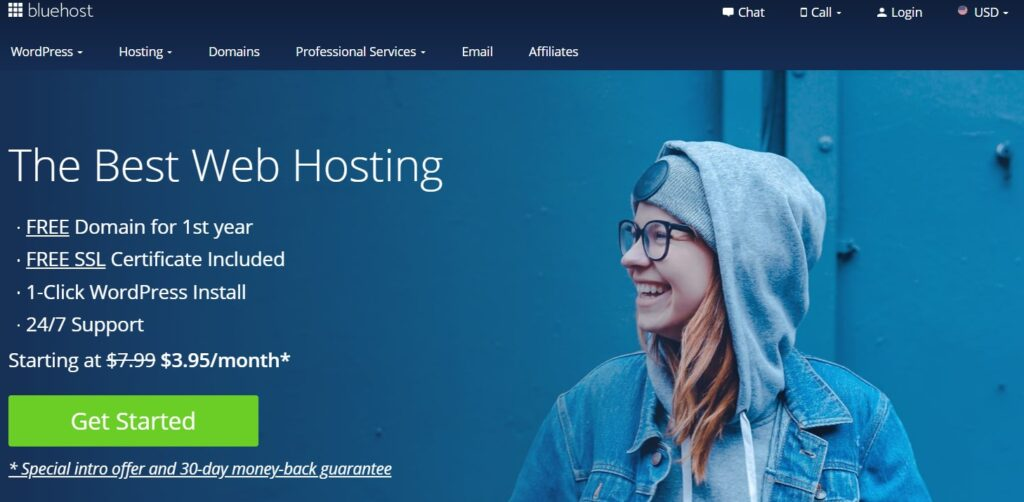 install wordpress with bluehost