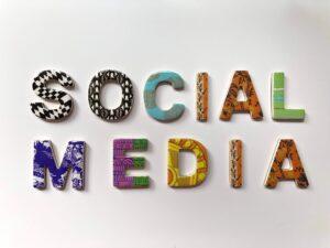 colorful social media headline