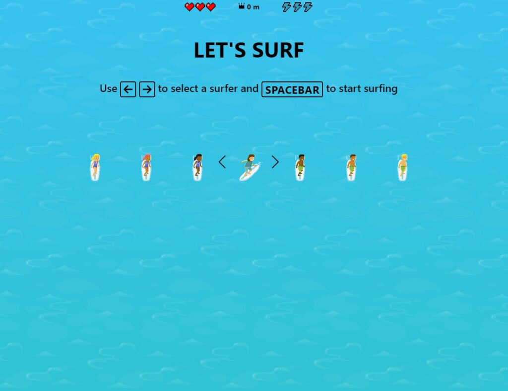 waste time online playing surfing game