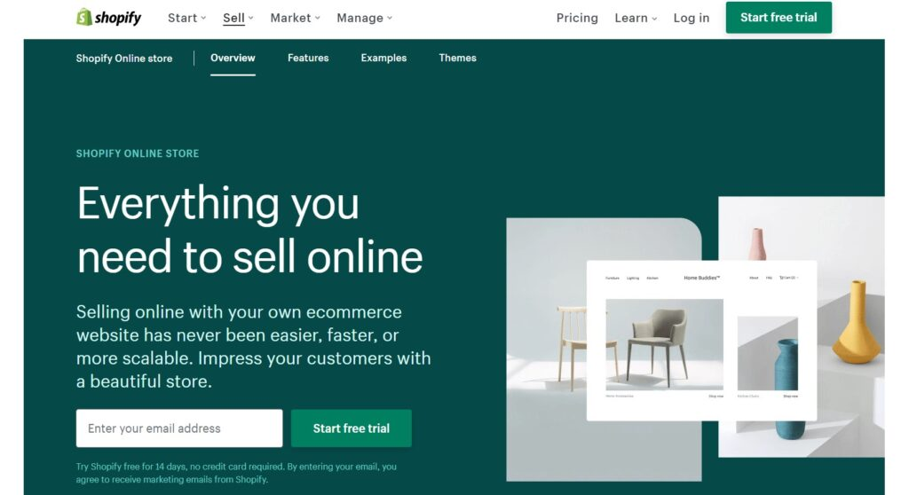 Shopify  is one of the e-commerce platforms