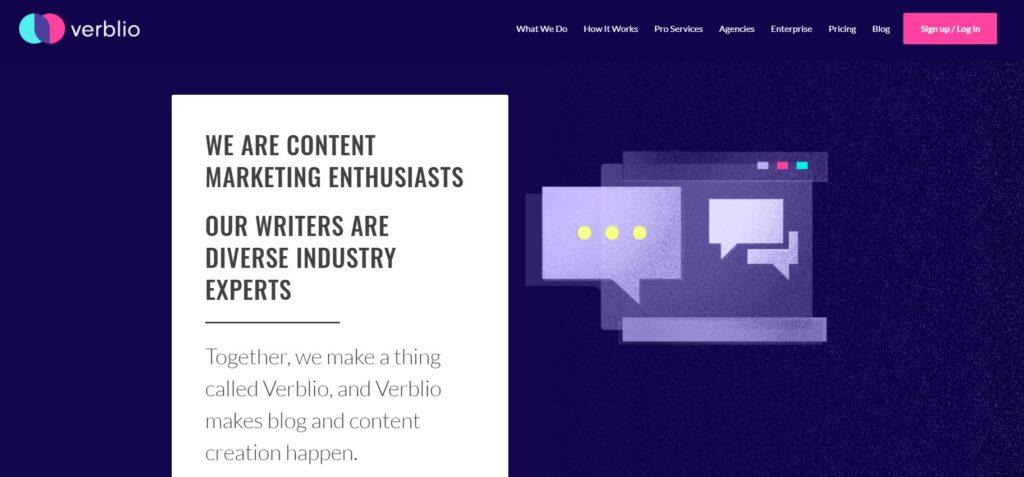 Verblio SEO content writing services provider