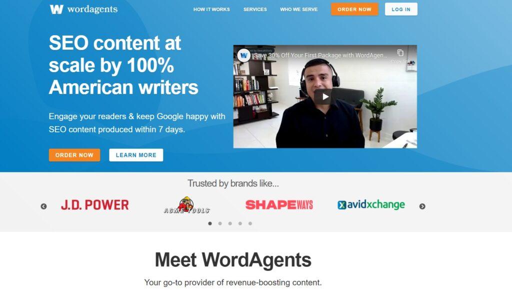 screenshot WordAgents
