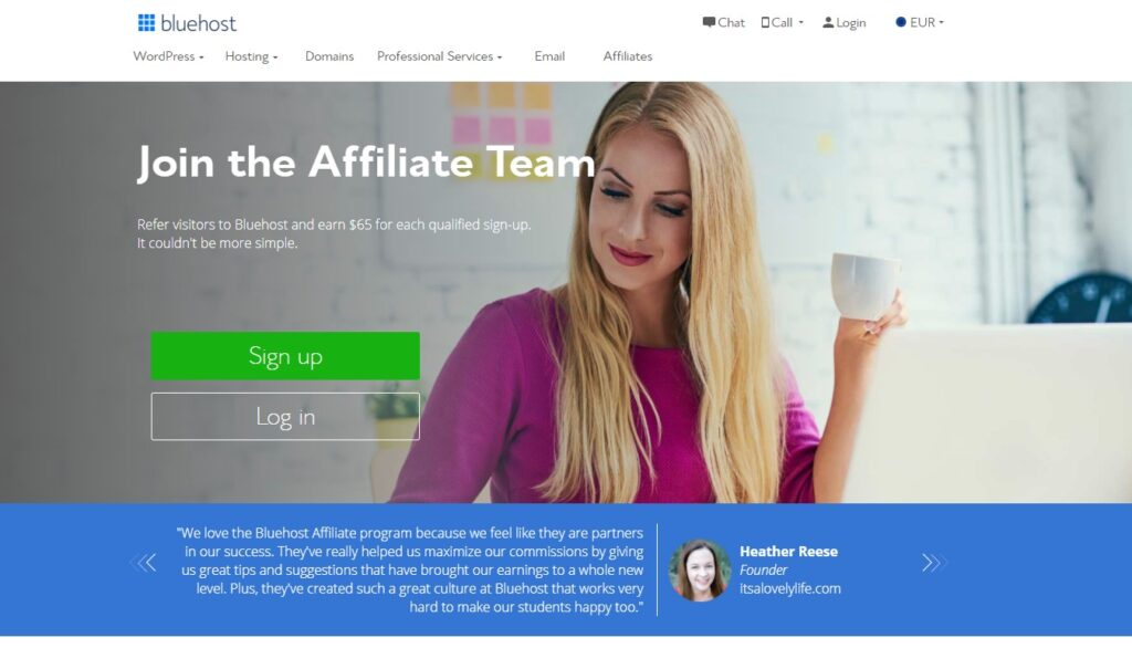 Bluehost Affiliate marketing program