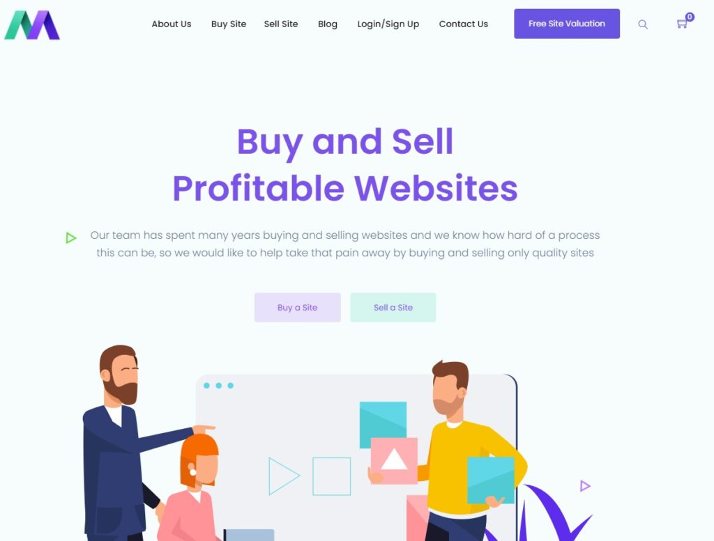 home page of motion invest