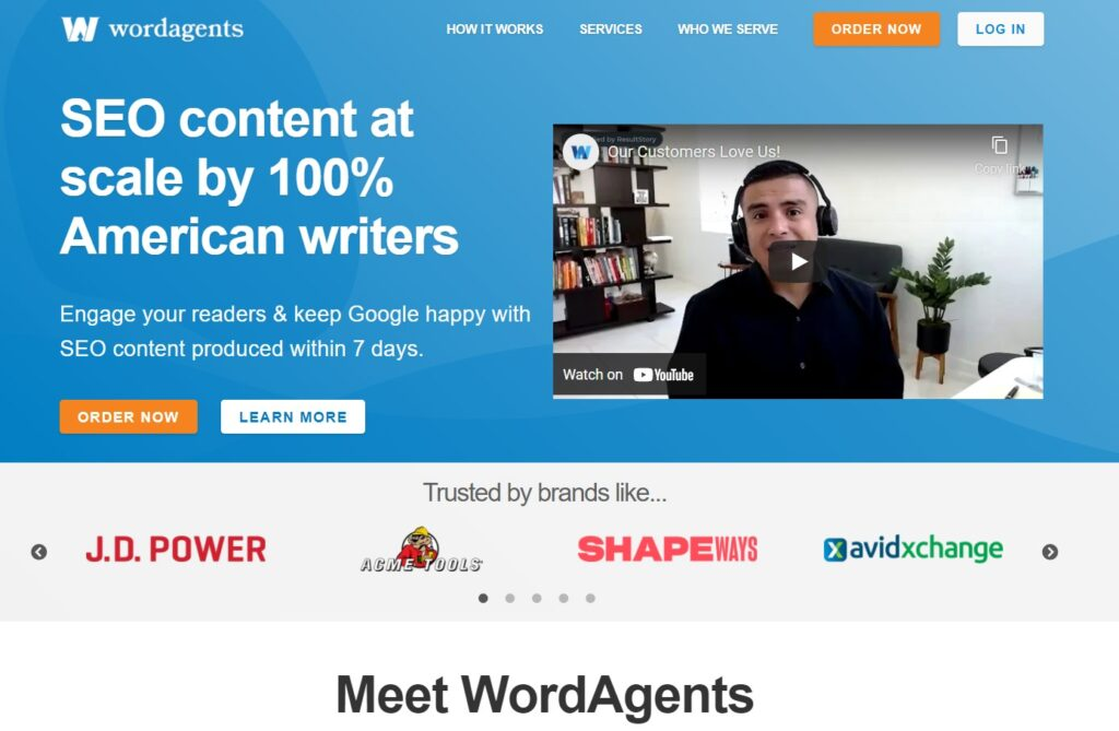 wordagents website