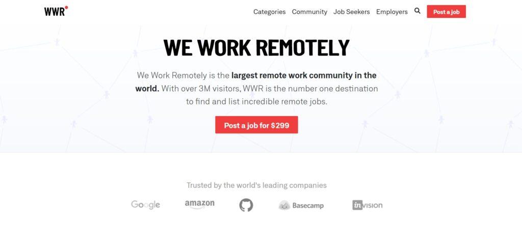 screenshot We Work Remotely