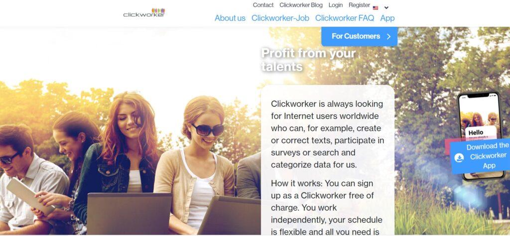 screenshot clickworker