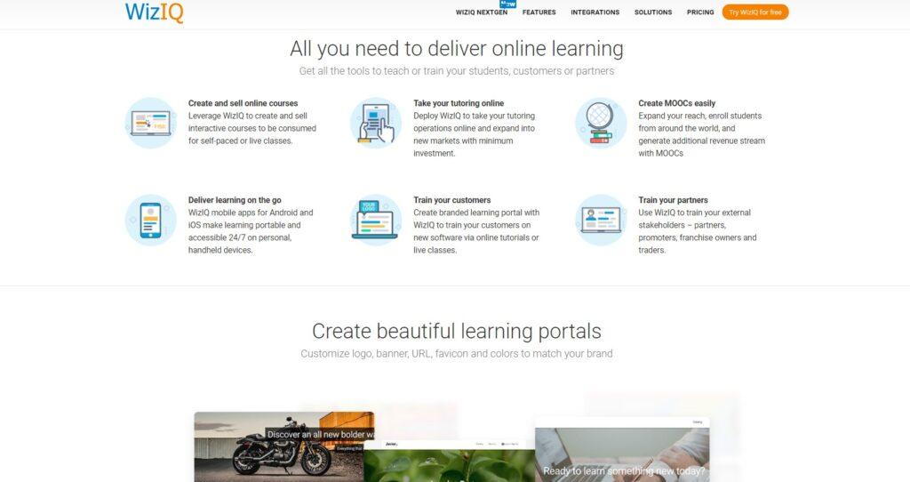 WizIQ home page