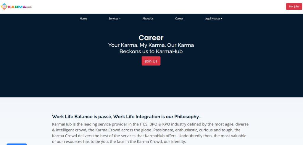 karmahub home page