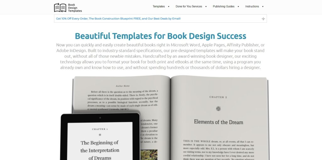 Book Design Templates home page