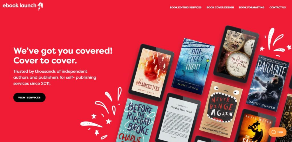 eBook launch home page