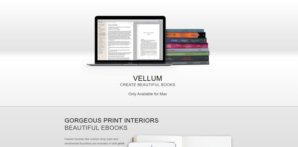 Vellum home page