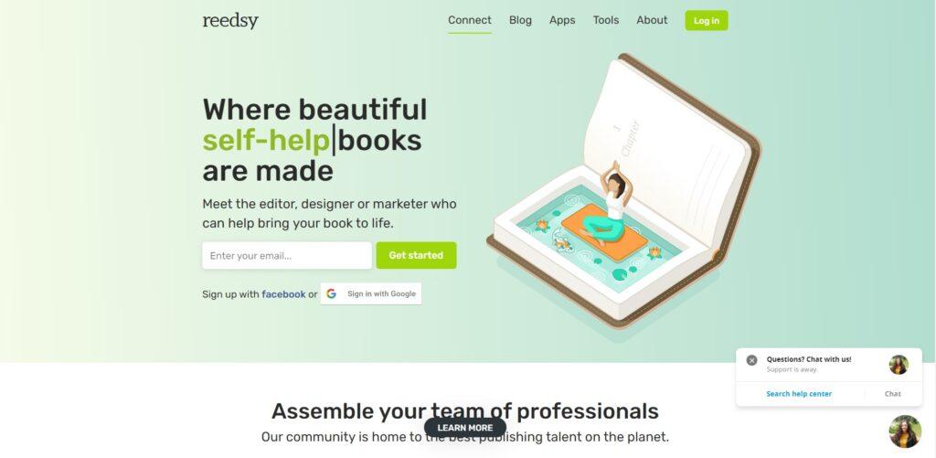 Reedsy eBook formatting tool